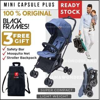 [DENIM] NEW Whiz Bebe Mini Capsule Plus Baby Stroller Compact Cabin Size Travel Stroller