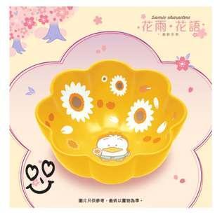 Sanrio 七十一 花雨花語 AP鴨 花形陶瓷碗