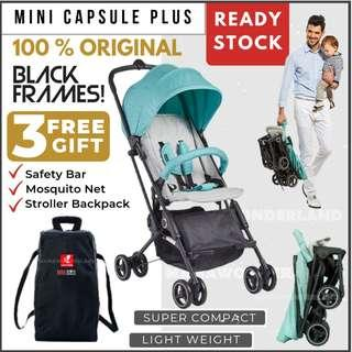 [GREY MINT] NEW Whiz Bebe Mini Capsule Plus Baby Stroller Compact Cabin Size Travel Stroller