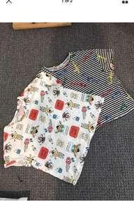 Zara printed graphic crop tee shirt size 6 8 10