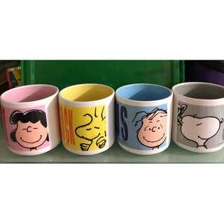 Snoopy cups a set of 4