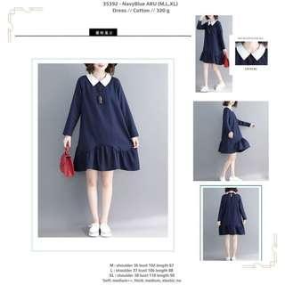 Dress 35392 - NavyBlue ARU