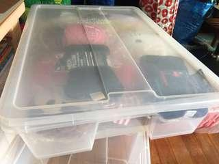 Ikea Samla Storage boxes 78x56x18 preloved include the box lid