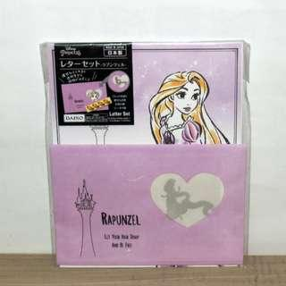 DAISO 大創 信封信紙組 一包有4份 迪士尼公主 長髮公主 產地日本 原購價49元 Disney Princess