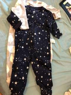 Set of 2 Baby warm fleece  PJ