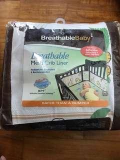 Mesh crib liner- never used