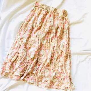 Coachella Midi Printed Skirt