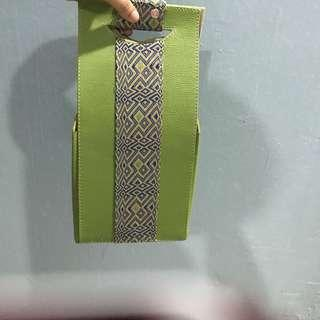 Gift Bag - Green Songket Style #precny60