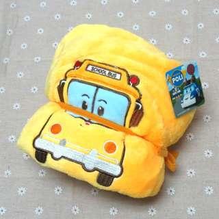 救援小英雄 波力 Poli 正版授權 校車哥哥 小毛毯 捲毯 冷氣毯 膝上毯 刷毛毯 小被被 保暖 披肩 舒眠毯