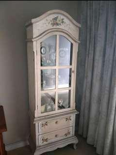 English country style handpainted cabinet from cottage craft