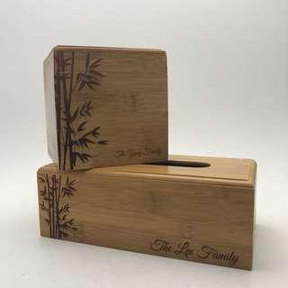 🚚 Wooden Bamboo Tissue Box