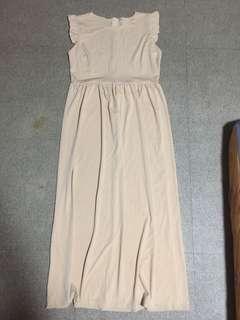 Beige Semi Formal Long Dress