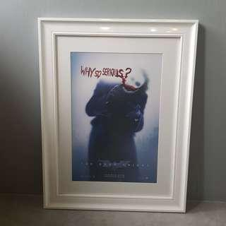 The Dark Knight / The Joker - Movie Poster (Custom Frame)
