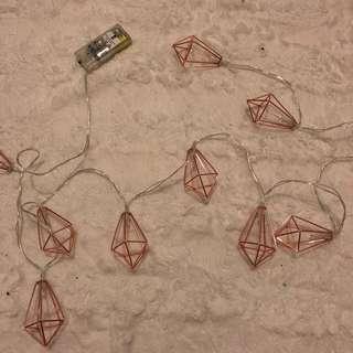Fairy lights diamond