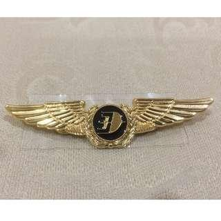 Original MAS malaysia airlines pilot wing badge - My own collection