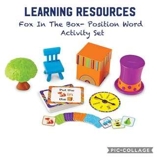 *Brand New* Learning Resources Fox In The Box- Position Word Activity Set, 65 Pieces Educational Tools for Homeschooling (Great for Position and Sight Words Learning) Tot / Home School Teaching Learning Resource position