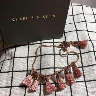 Charles & Keith rose gold bracelet
