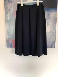 Navy box pleated skirt Boohoo AU14