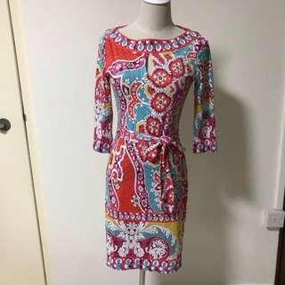 BN Auth Emilio Pucci Silk Jersey Paisley Printed Dress