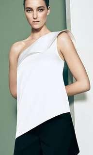 Witchery first edition Asymmetrical silky top