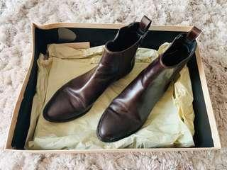 Authentic Burberry Leather Ankle Boots