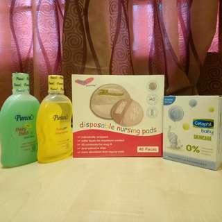 Baby Bundle - Nursing Pad 48 pieces, Pureen Baby Bath & Shampoo, Cetaphil Baby Skincare