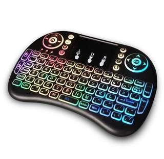 CNY Flash⚡️Sales🔥 -2.4 GHz - 7 color backlight Wireless Keyboard / Keypad for TV box, XBox, PS, Laptop,