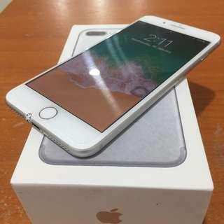 Iphone 7 Plus 128gb Silver Ex Inter Zpa Fullset Bisa Tt