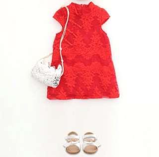 🚚 【BABYWEAR】【CLOTHING】【CNY】【GIRL】CNY12 CHILDREN BABY GIRL CLOTHING RED CHEONGSAM / QIPAO DRESS 🍊