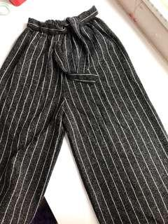 Black Striped Culottes