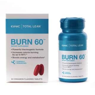 🌳旺角門市🌳💥 GNC Burn 60 燃脂 60 💥減肥配方 Total Lean™ Burn 60™ CLA L carnitine