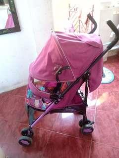 Light weight stroller umbrella type