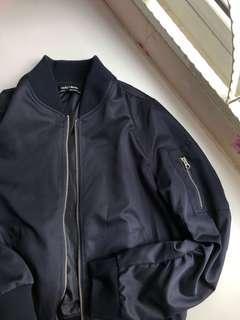 Navy Blue Bomber Jacket