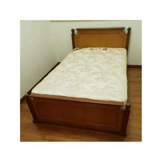 Super Single solid wood Bed with Mattress
