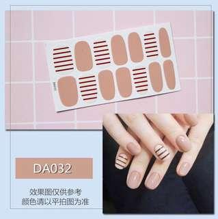 指甲貼紙 3D光療防水立體美甲材料 美甲貼片 光療指甲貼孕婦可用