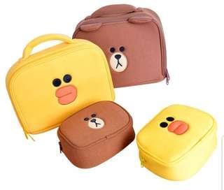 Make up bag (Line Characters)