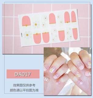 美甲貼紙 3D光療防水立體美甲材料 美甲貼片 光療指甲貼孕婦可用
