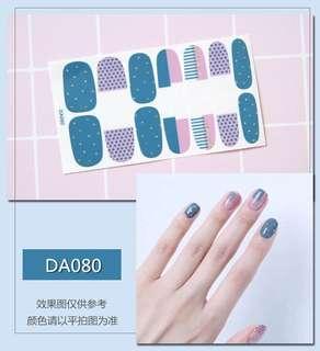 指甲貼紙 3D光療防水立體美甲材料 美甲貼片 光療指甲貼孕婦可用 生活小物