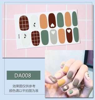 指甲貼紙 3D光療防水立體美甲材料 美甲貼片 光療指甲貼孕婦可用 時尚百搭