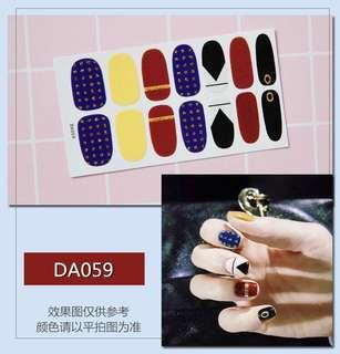 指甲貼紙 3D光療防水立體美甲材料 美甲貼片 光療指甲貼孕婦可用 復古 文青