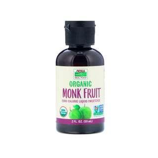 🚚 Now Foods, Organic Monk Fruit, Liquid Sweetener, 2 fl oz (59 ml)