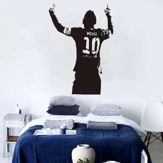 Soccer wall decal / wall stickers / home deco - Lionel Messi Barcelona decal