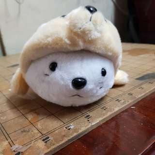 全新海豹娃娃(兔子帽)