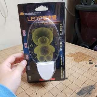 全新小熊Led夜燈