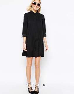 🚚 ⚡️限時降價⚡️ ASOS 黑色襯衫洋裝/ ASOS Black Shirt Dress