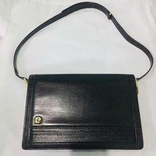 Authentic Pierre Cardin Leather Bag from Paris
