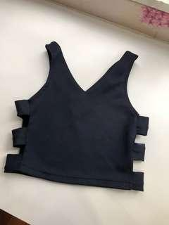 Side Cut Out Crop Top