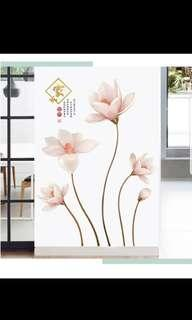 Home harmony Creative warm romantic magnolia self-adhesive wall stickers living room bedroom background self-adhesive wall stickers ⭕Size see last picture 2 set $30