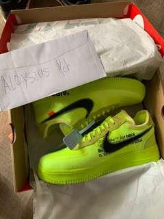 Off white air force 1 Volt US 9.5