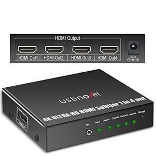 1865. 1 In 4 Out 4K HDMI Splitter